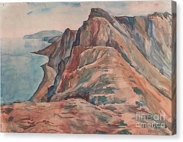 Summer View Of Koktebel Canvas Print
