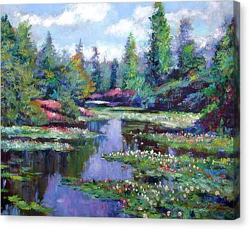 Recommended Canvas Print - Summer Waterlilies by David Lloyd Glover