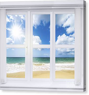Summer Window Canvas Print by Amanda Elwell