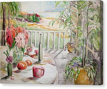 Canvas Print featuring the painting Summer2 by Becky Kim