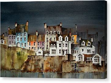 Summercove Dusk West Cork Canvas Print by Val Byrne