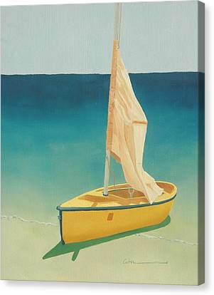 Summer's Boat Canvas Print by Diane Cutter