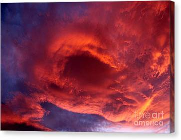 Summer's Canvas In The Sky Canvas Print by Krissy Katsimbras