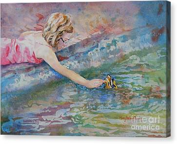 Canvas Print featuring the painting Summer's Day by Mary Haley-Rocks
