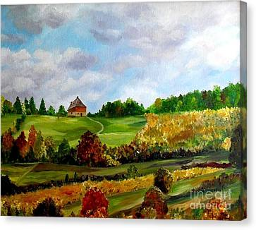 Summer's End Canvas Print by Julie Brugh Riffey