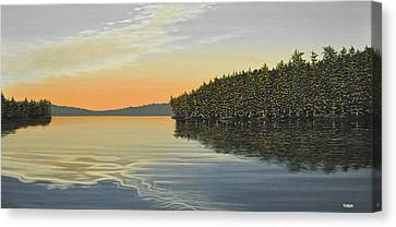 Canvas Print featuring the painting Summers End by Kenneth M  Kirsch