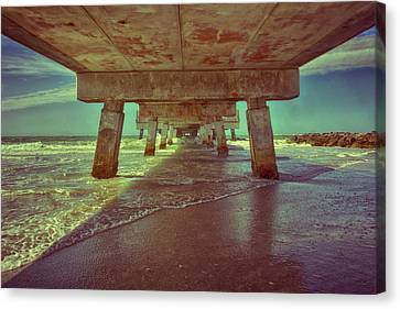 Summers Under The Pier Canvas Print by Nicholas Evans