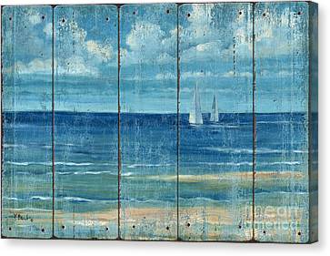 Summerset Sailboats - Distressed Canvas Print by Paul Brent
