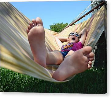 Summertime And The Livin' Is Easy Canvas Print by Laura Fasulo