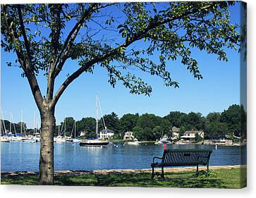 Canvas Print featuring the photograph Summertime At The Marina by Aurelio Zucco