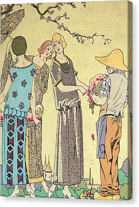 Summertime Dress Designs By Paul Poiret Canvas Print by French School
