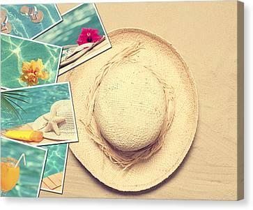 Postcards Canvas Print - Summertime Postcards by Amanda Elwell