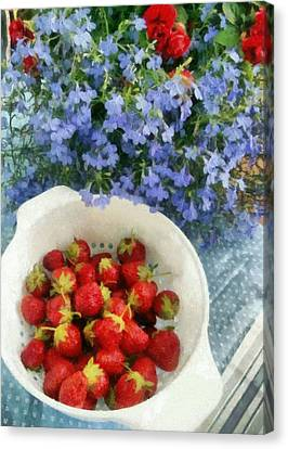 Summertime Table Canvas Print by Michelle Calkins