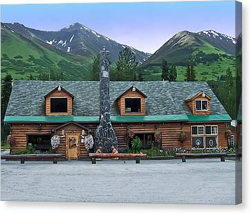 Summit Lake Lodge Alaska Canvas Print by Aimee L Maher Photography and Art Visit ALMGallerydotcom