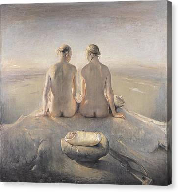 Summit Canvas Print by Odd Nerdrum