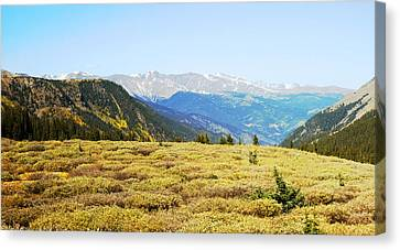 Summit View In Autumn Canvas Print by Ann Powell