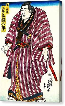 Sumo Wrestler Zogahana Nadagoro 1844 Canvas Print by Padre Art