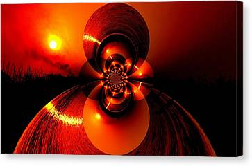 Sun Abstraction-3 Canvas Print by Anand Swaroop Manchiraju