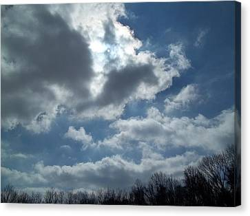 Canvas Print featuring the photograph Sun Almost by Eric Switzer