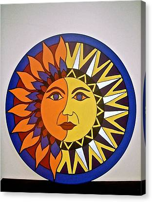 Sun And Moon Canvas Print by Stephanie Moore