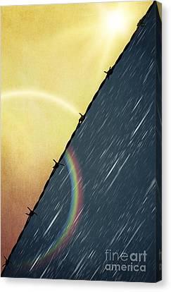 Sun And Rain Canvas Print by Svetlana Sewell