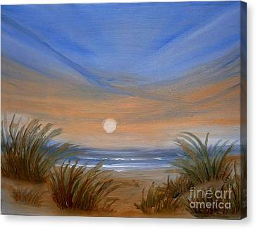 Sun And Sand Canvas Print by Holly Martinson