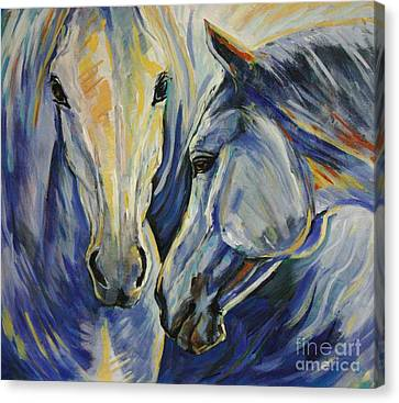 Horse In Art Canvas Print - Sun And Sea by Silvana Gabudean Dobre
