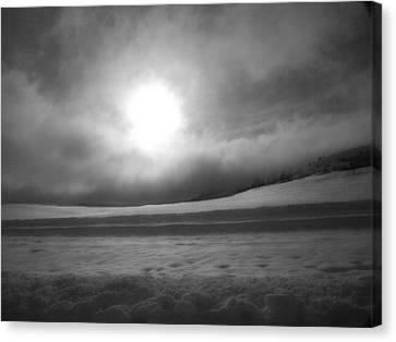 Sun And Snow Canvas Print