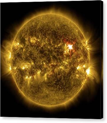 Sun And X1 Solar Flare Canvas Print