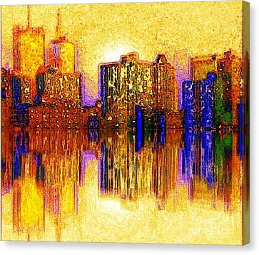 New York Heat Canvas Print by Holly Martinson