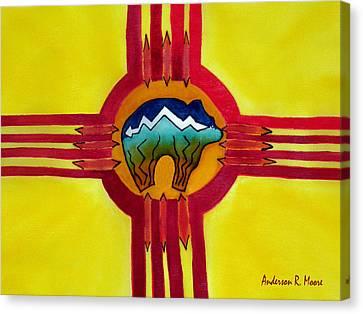 Sun Bear Canvas Print by Anderson R Moore