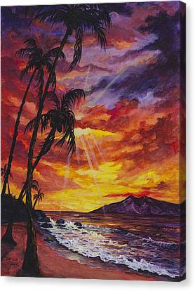 Canvas Print featuring the painting Sun Burst by Darice Machel McGuire