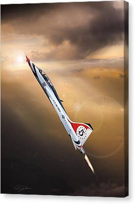 Sun Chaser 5 T-38 Canvas Print