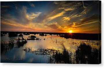 Sun  Clouds  Water And Silence Canvas Print by Allen Biedrzycki