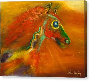 Canvas Print featuring the painting Sun Dance by Barbie Batson