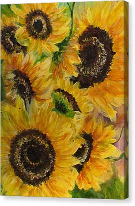 Canvas Print featuring the painting Sun Danse by France Laliberte