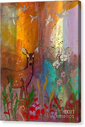 Sun Deer Canvas Print by Robin Maria Pedrero