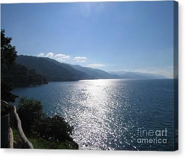 Sun Flare On The Bay Canvas Print