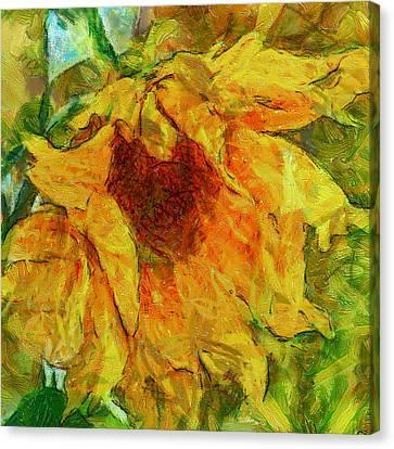 Sun Flower Aka Gogh 2 Canvas Print by Yury Malkov