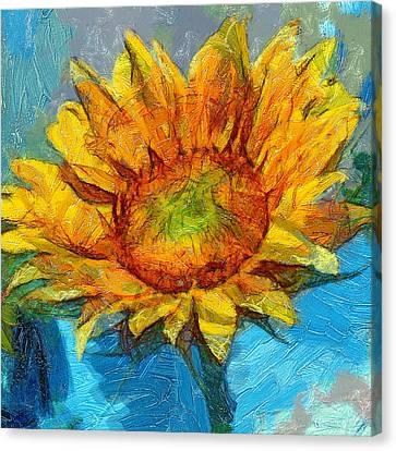Sun Flower Aka Gogh 4 Canvas Print by Yury Malkov