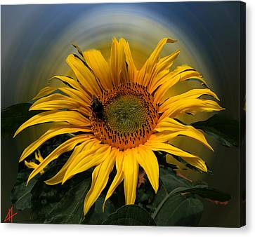 Canvas Print featuring the photograph Sun Flower Summer 2014 by Colette V Hera  Guggenheim