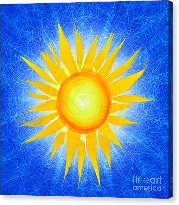 Digital Sunflower Canvas Print - Sun Flower by Tim Gainey