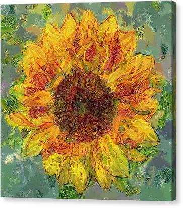 Sun Flowering 3 Canvas Print by Yury Malkov