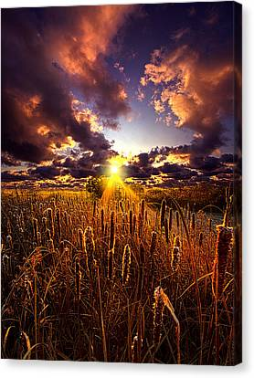 Sun Gazing Canvas Print