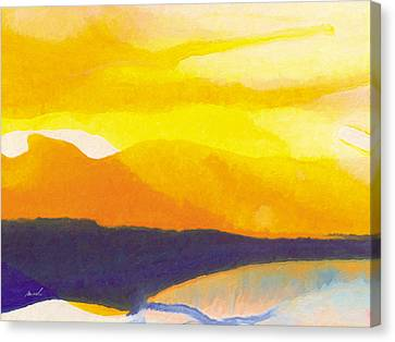 Canvas Print featuring the painting Sun Glazed by The Art of Marsha Charlebois