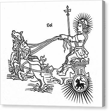 Sun God Helios, Or Sol Canvas Print by Granger
