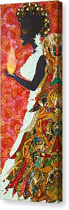 Canvas Print featuring the tapestry - textile Sun Guardian - The Keeper Of The Universe by Apanaki Temitayo M
