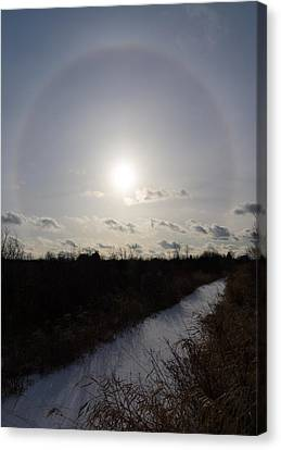 Sun Halo - A Beautiful Optical Phenomenon Canvas Print by Georgia Mizuleva
