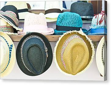Sun Hats Canvas Print by Tom Gowanlock