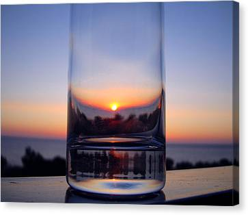 Sun In The Glass Canvas Print by Andreas Thust